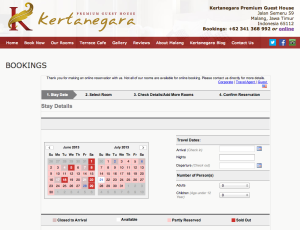 Kertanegara guest house screenshot