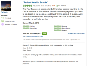 Seattle Hotel Tripadvisor Review