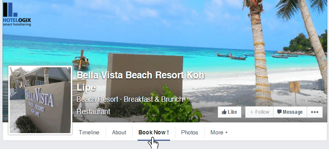 Facebook increases hotel bookings