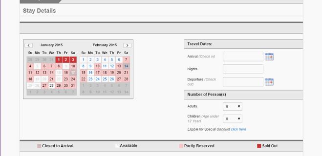 Web booking engine