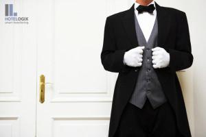 Butler standing near door