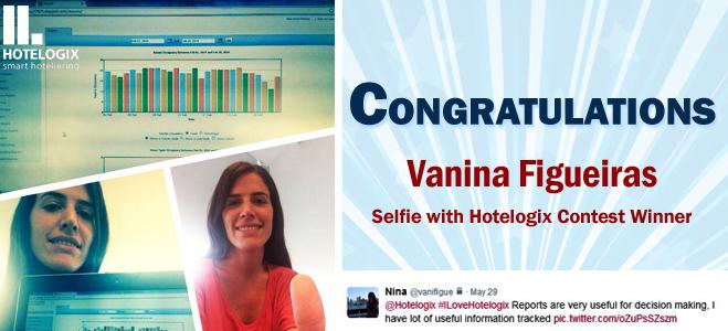 Vanina Figueiras, ganadora del selfie Hotelogix