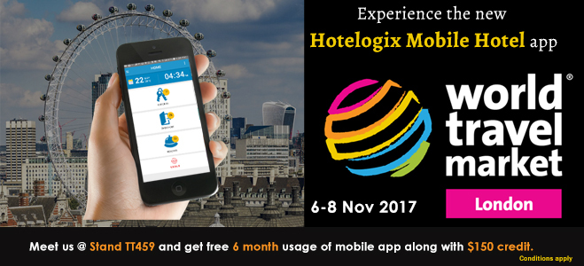 Run your Hotel on the Go! Meet us at the Travel Tech Show, WTM London 2017