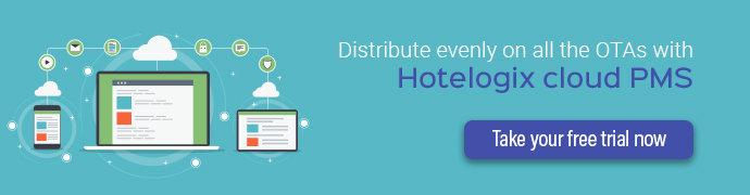 Distribute evenly on all the OTAs with Hotelogix cloud PMS