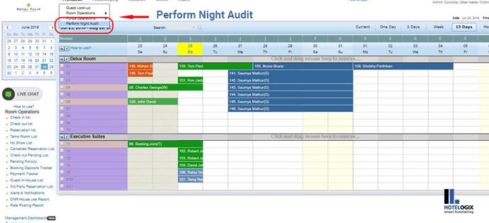 Perform Night Audit